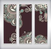 Collection of modern ornamental banners template Royalty Free Stock Images