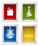 Collection of modern postage stamps. Collection of fresh modern postage stamps vector illustration
