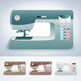 Collection of modern sewing machines Royalty Free Stock Photos