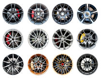 Collection of modern sport wheel Royalty Free Stock Photography