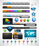 Collection of modern style web headers Royalty Free Stock Image