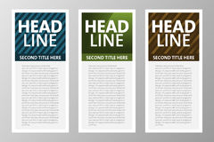 Collection of Modern text box for web, app, magazine... etc. Vector Template. Royalty Free Stock Photography