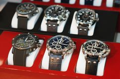 Collection of modern watches. Stock Images