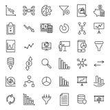 Collection moderne d'icônes d'analyse de style d'ensemble Image libre de droits