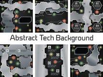 Collection moderne de calibres de technologie électronique illustration libre de droits