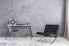 Collection moderne de chaise longue et de musique Photo stock