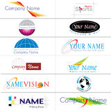 Collection moderne de logos Images stock