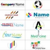 Collection moderne de logos Image libre de droits
