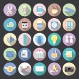 Collection moderne de vecteur d'icônes plates Images libres de droits