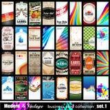 Collection moderne et de cru de visite de carte de visite professionnelle - positionnement 1 Photographie stock libre de droits