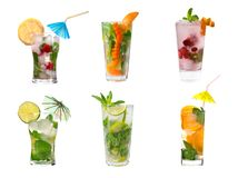 Collection mojito  Alcoholic cocktails Stock Photos