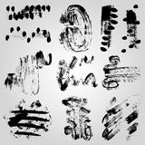 Collection of monochrome grunge band line on a light background. (vector eps 10 Royalty Free Stock Photo