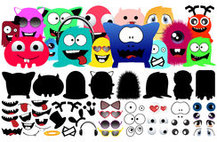 Collection Monster Character Stock Photography