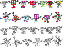 Collection of Monster Ficticious Cartoon Characters Royalty Free Stock Images