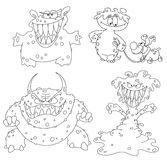 Collection of monsters Royalty Free Stock Photography