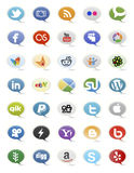 Social Media Buttons Royalty Free Stock Images