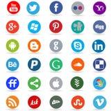 Social media network icons royalty free illustration