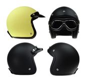 Collection of motorbike classic helmet Stock Photography