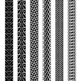 Collection motorcycle tire tracks, seamless texture Royalty Free Stock Photography