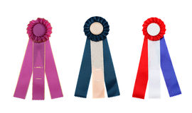 Collection of Multi Colored Award Ribbons Royalty Free Stock Photography