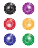 Collection of multi-colored balls vector illustration