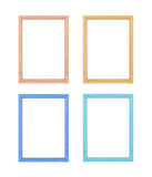 Collection of multi-colored frames Royalty Free Stock Photos