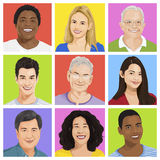 Collection of Multi-ethnic people Vector. Collection of Multi-ethnic people royalty free illustration