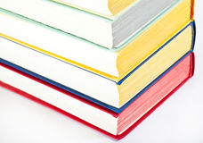 Collection of multicolored books Stock Images