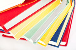 Collection of multicolored books Stock Photos