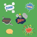 Collection of  multicolored comic sound Effects Royalty Free Stock Photography