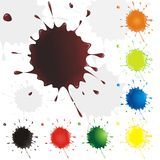 Collection multicolored drops. Blots. Royalty Free Stock Image