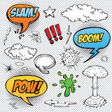 Collection of multicolored hand drawn comic sound Effects Stock Photography