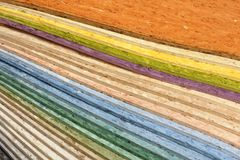 Collection multicolored linoleum Royalty Free Stock Photos