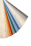 Collection multicolored linoleum Stock Photography