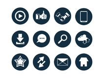 Collection of multimedia icons vector illustration