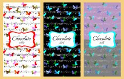 Collection of music chocolate packaging design. Royalty Free Stock Photos