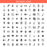 Collection music icons Stock Photo