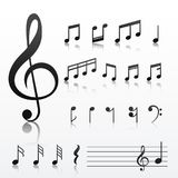 Collection of music note symbols. Vector Royalty Free Stock Image