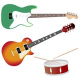 Collection of music objects Royalty Free Stock Photography