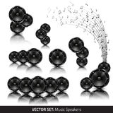 Collection of music speakers Royalty Free Stock Photography