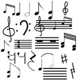 Collection of musical symbols Stock Images