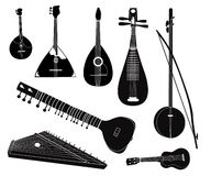 Collection musicale d'instrument de rayure Photo stock