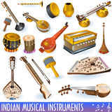 Collection musicale indienne Photos libres de droits