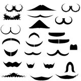Collection mustaches for fun Stock Photography