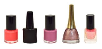Collection of nail polish Royalty Free Stock Photos