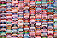 Collection of name bracelets royalty free stock image