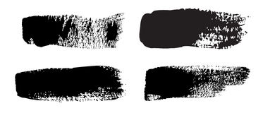 Collection of natural brush strokes Royalty Free Stock Photos