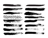 Collection of natural brush strokes. Stock Photography