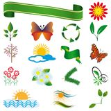 A collection of natural elements Royalty Free Stock Images