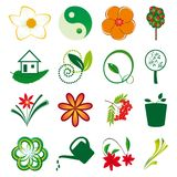A collection of natural elements Stock Images